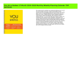 you are a badass month monthly weekly planning calendar
