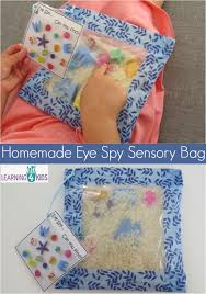 homemade eye spy sensory bag keeping