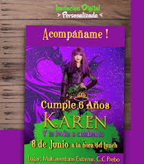 Invitacion Digital Personalizada Descendientes Uma Evie Mal