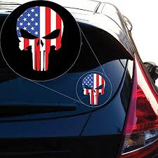 Bumper Stickers Decals Magnets American Punisher Decal Sticker For Car Window Laptop And More Bn1 8 X 5 8 Bumper Stickers Decals Magnets