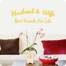 Amazon Com Valuevinylart Husband And Wife Best Friends For Life Wall Decal Yellow 32w X 11h Home Kitchen