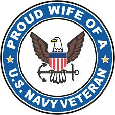 Amazon Com Us Navy Veteran Proud Wife Military Veteran Served Window Bumper Sticker Vinyl Decal 3 8 Automotive