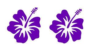 Hibiscus Vinyl Decals Hawaiian Aloha Flower Car Window Laptop Stickers Kandy Vinyl Shop