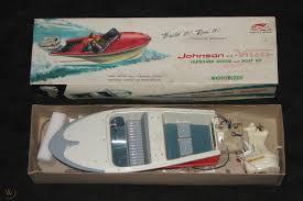 Vintage Fleet Line Wizard Speed Boat Johnson Super Sea Horse 75 Outboard Motor 1809174936