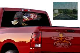 Usa Perforated Sticker Dodge Ram 1500 Sun Protection Decals