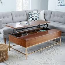 storage coffee table walnut antique