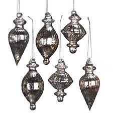 mercury glass ornaments mercury glass