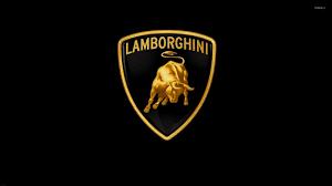 golden lamborghini logo wallpaper car