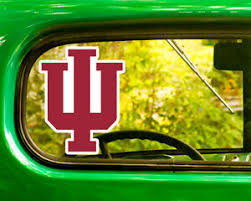 2 Iu Indiana University Hoosiers Sticker Decal Bogo For Car Bumper Free Shipping Ebay