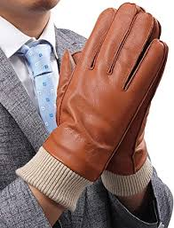 leather gloves for men with 3m
