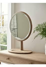 bergen oak dressing table mirror