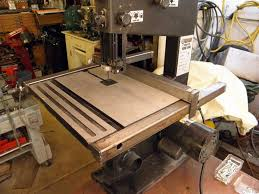 Harbor Freight Band Saw 9 Inch Mod Rip Fence And Support Frame Bandsaw Pallet Coffee Table Diy Bandsaw