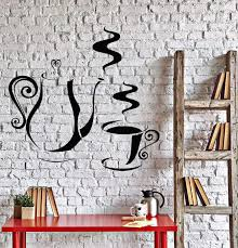 Vinyl Decal Kitchen Coffee Shop Tea Time Party Wall Sticker Mural Uniq Wallstickers4you