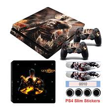 Terbaru Ps4 Slim Sticker Hot Game God Of War Stickers For Playstation 4 Slim Console Controller Shopee Indonesia