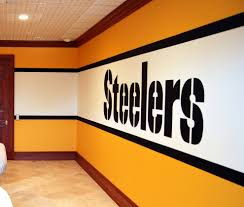 Pittsburgh Steelers 1970 S Locker Room Mural By Tom Taylor Of Wow Effects In Va Traditional Home Gym Dc Metro By Mural Art Llc Wall Murals And Fine Art