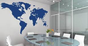 World Map Wall Decal Dezign With A Z