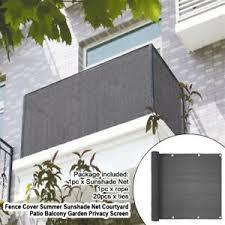 5m Privacy Fence Screening Fencing Screen Panel Sunshade Net Balcony Garden Ebay