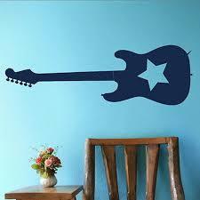 Free Shipping Rockstar Guitar Music Wall Sticker Decor Sticker Home Vinyl Art Decal Wall Poster Paper Music Wall Sticker Wall Stickerdecorative Stickers Aliexpress
