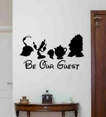 Be Our Guest Wall Decal Disney Vinyl Sticker Beauty And The Beast Poster 1071 Ebay