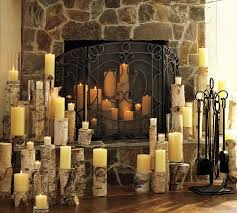 pillar candles in fireplace 28 images