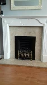 wood fire surround painted white