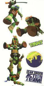 Teenage Mutant Ninja Turtles Wall Stickers 6 Decals Leonardo Michaelangelo Tmnt Ebay
