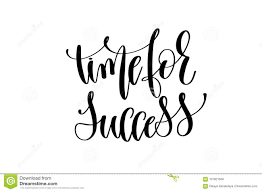 time for success hand written lettering inscription stock vector