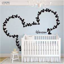 Wall Decals Mickey Mouse Personalized Baby Name Surface Graphics By Decals Murals 57 00 Via Mickey Mouse Wall Decals Mickey Mouse Wall Disney Wall Decals