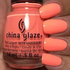 hi vis peach orange nail polish varnish