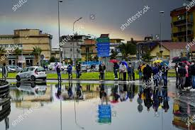 Protesters block Arzano roundabout protest against lockdown Editorial Stock  Photo - Stock Image