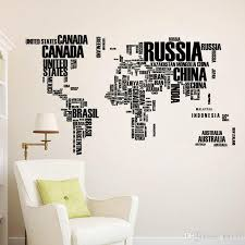 Black White Colorful World Map Wall Stickers Home Art Wall Decor Decals For Living Room Bedroom Baby Room Wall Stickers Baby Wall Decal From Kity12 6 04 Dhgate Com