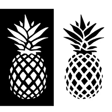 Vova Fashion Family Car Styling Window Door Decal Pineapple Pattern Sticker Decor