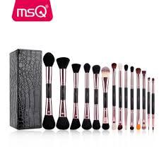 msq 14pcs makeup brushes double head