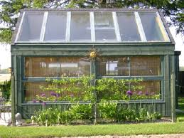 greenhouses from old windows and doors