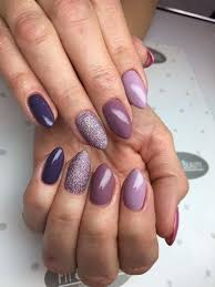 Nail Shape And Length With Images Fioletowe Paznokcie
