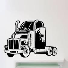 Semi Truck Wall Sticker Long Vehicle Car Automobile Vinyl Decal Home Boy Room Interior Art Decoration Mirror Wall Decals Mirror Wall Stickers From Joystickers 11 85 Dhgate Com