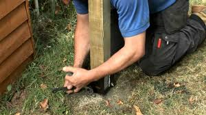 How To Replace A Damaged Or Rotten Fence Post Youtube