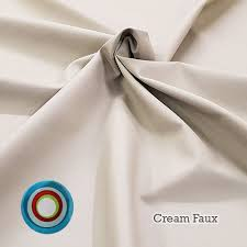 cream faux leather upholstery fabric