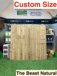 Hand Made Custom Premium Closeboard Fence Panel The Beast Fence Panel Fully Framed Natural