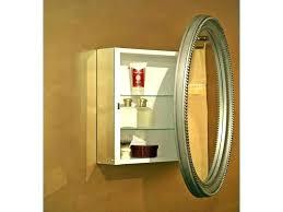 oval mirror medicine cabinet vanity