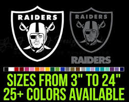 Raiders Car Decal Etsy