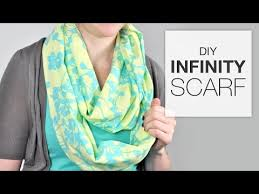 tutorial how to sew an infinity scarf