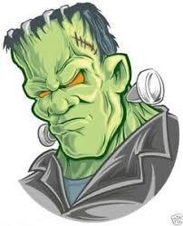 Frankenstein Decal Bumper Helmet Sticker Ebay