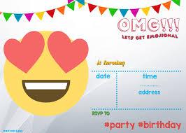 Free Printable Emoji Invitation Template Invitaciones Emoji