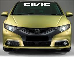 Honda Civic Logo Windshield Banner Vinyl Decals Stickers Etsy