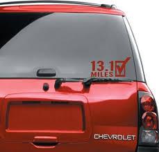 13 1 Car Decals Running Women Gifts