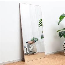 aluminum frame mirror frame floor