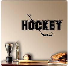 Hockey Wall Decal Sticker Art Home Decor Buy Online In Aruba At Desertcart