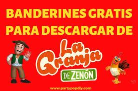 Banderines La Granja De Zenon Party Pop