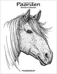 Amazon Com Paarden Kleurboek Voor Volwassenen 1 Volume 1 Dutch